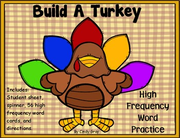 Build A Turkey ~ High Frequency Word Game