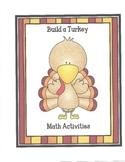 Build A Turkey Math Activities