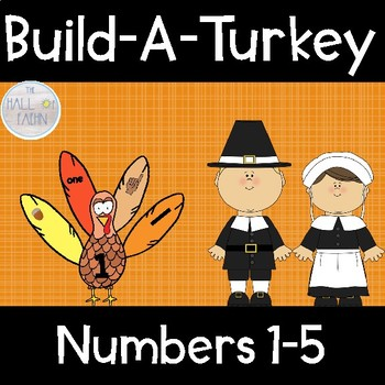Build-A-Turkey Number Sense 1-5 Center (Thanksgiving)
