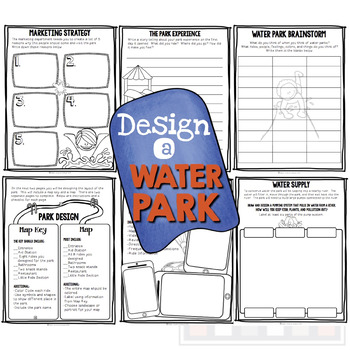 Project Based Learning: Design A Water Park! (PBL) For Google Classroom/Slides