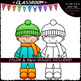 Build A Winter Boy - Clip Art & B&W Set