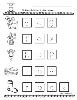 Build A Word (Word Work) - Long and Short Vowels (Manuscript)