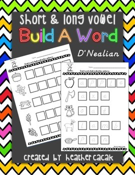 Build A Word (Word Work) - Long and Short Vowels (D'Nealian)