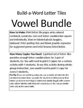 Build A Word Bundle: Vowel Dipthongs