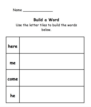 Build A Word HFW Pack