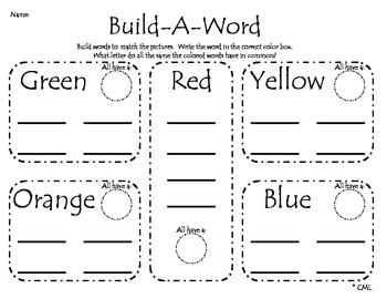 Build A Word Literacy Center