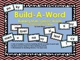 Build-A-Word: Multi-Syllabic Words: V/CV and VC/V Patterns