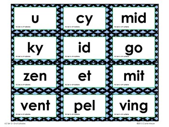 Build-A-Word: Multi-Syllabic Words: V/CV and VC/V Patterns