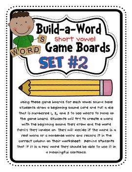 Build-A-Word {Short Vowel} Games - Set #2