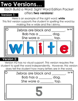 Build A Word : Sight Word Edition (1st Grade)