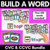 Decodable Build A Word Cards | CVC Words |