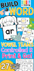 Build A Word:  Vowel Teams & Controlled R Worksheets