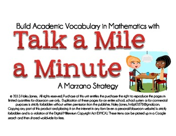 Build Academic Vocabulary in Math with Talk a Mile a Minute