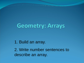 Build An Array Interactive PowerPoint