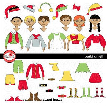Build An Elf Christmas Clipart by Poppydreamz
