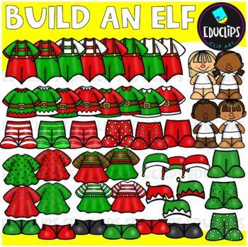 Build An Elf Clip Art Bundle {Educlips Clipart}