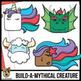 Build A Mythical Creature! Emotions Clip Art | Animals | Block Heads | Unicorn