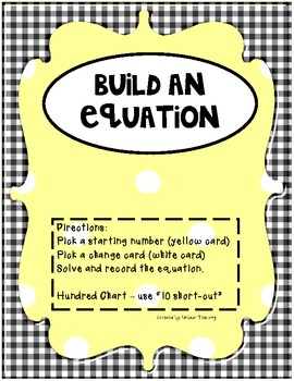 Build An Equation