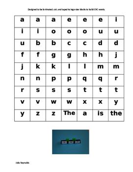 Build Beginning Reader CVC Words