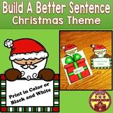Christmas Sentence Building Writing Activity