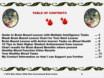 Build Brain Based Lessons on Healthy Blood