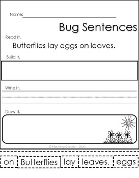 Build Bug Sentences