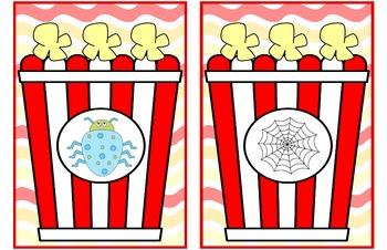Build CVC words: Popcorn theme