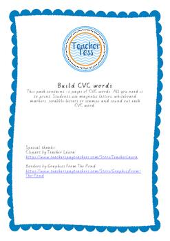 Build CVC words pack
