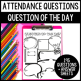 Build Classroom Culture with 100 Attendance Questions!
