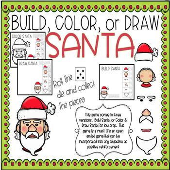 Build, Color, or Draw SANTA