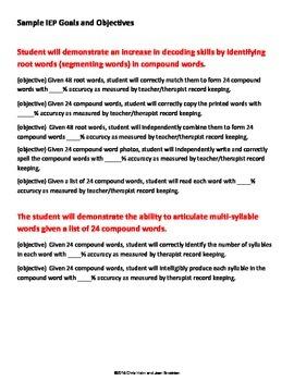 Build Compound Words Free Checklist