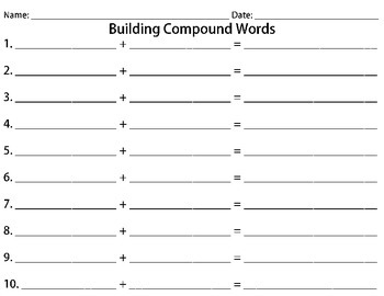 Build Compound Words (Mix-and-Match)
