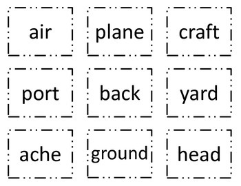 Build Compound Words Mix and Match