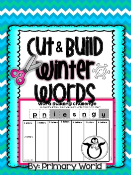Word Building Winter Words Build & Cut