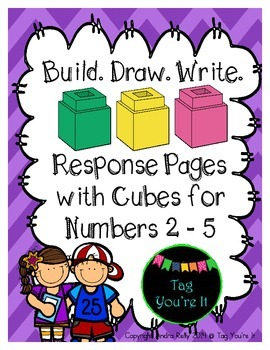 Build. Draw. Write. Response Page FREEBIE for Numbers 2 - 5
