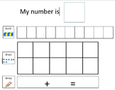 Build-Draw-Write - Using a Ten Frame to support Partners of 10