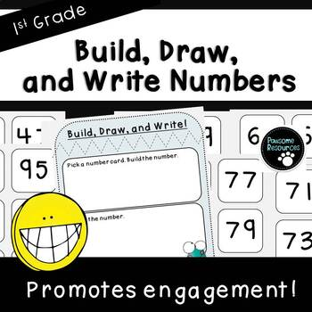 Build, Draw and Write Numbers Activity (First Grade, 1.NBT.2)