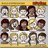 Build Expressions - Emotions Clip Art