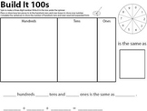 Build It 100s - repeated place value practice with three-d