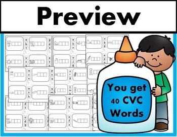 Build It! 40 CVC Words Center (Literacy Center, RTI, Small Group)
