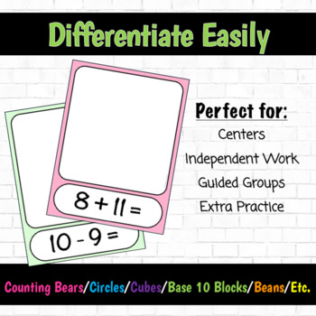 Build It! Addition and Subtraction Math Fact Mats