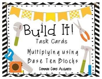 Build It! Area Model Task Cards 4.NBT.5 Partial Product