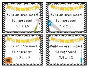 Build It! Area Model for Multiplying Decimals 5th Grade