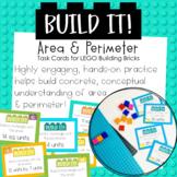 Build It! Area and Perimeter LEGO Building Brick Task Cards