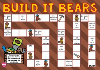 Build It Bears Themed Game Board