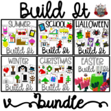 Build It Bundle:   Linking Cube Math Mat Pictures Bundle