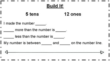 Build It Cards (A): Place Value Learning Station