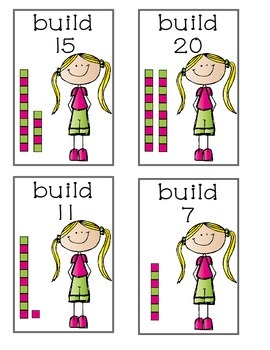 Build It Cards for Math Stations