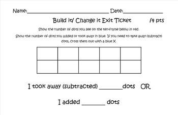 Build It Change It Exit Ticket