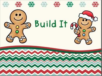Build It Christmas Math Tub FREEBIE!